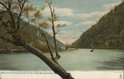 James River Passing Through the Blue Ridge Mountains in Virginia Postcard