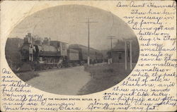 At the Railroad Station Postcard