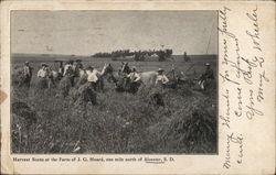 Harvest Scene at the Farm of J.G. Hoard
