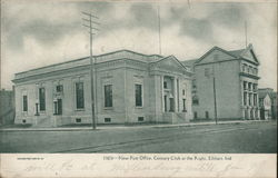 New Post Office, Century Club at Right Postcard
