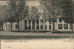 Equinox House and Hard's Drug Store Postcard