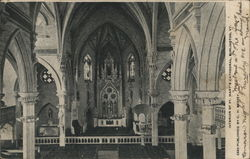 Interior of St. Mary's Cathedral Postcard