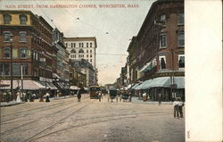Main Street, From Harrington Corner, Worcester, Mass.