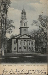 United Church on the 'Old Green' Postcard