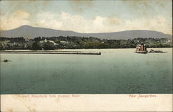 Katskill Mountains From Hudson River Postcard