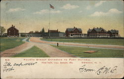Fourth Street Entrance to Fort Ontario, First Built 1755; Rebuilt 1860 Postcard