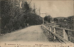 Looking Along State Road Postcard