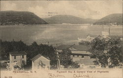 Peeksill Bay & General View of Highlands Postcard