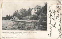 Owlyout Lodge on Upper Chateaugay Lake, P.O.Clinton Co.
