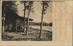 Maple Island Cottage Postcard