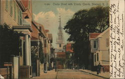 Clark Street with Trinity Church