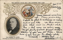 The Official State Seal and Governor Post Card Postcard