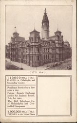 City Hall - Bell Telephone Postcard