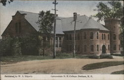 Gymnasium N.H. College Postcard