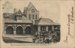 New York Central & Hudson River Railroad Depot Postcard