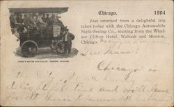 Chicago Automobile Sight-Seeing Company Postcard