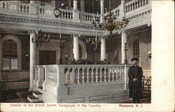 Interior of the Oldest Jewish Synagogue in the Country