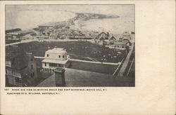 Birds Eye View of Bathing Beach and Fort Mansfield