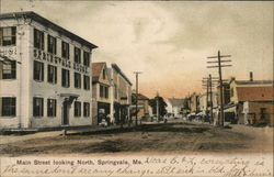 Main Street Looking North Postcard