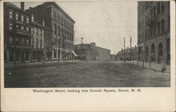 Washington Street, looking into Central Square
