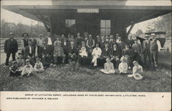 Group at Littleton, Including Some of the Oldesr Inhabitants, Littleton, Mass.