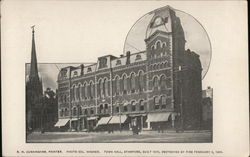 Town Hall, Built 1870, Destroyed by Fire February 4, 1904