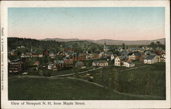 View of Newport, N. H. from Maple Street