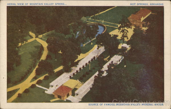 Aerial View of Mountain Valley Spring Hot Springs Arkansas