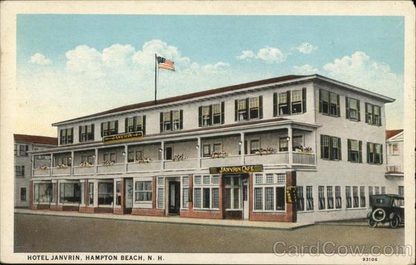 Hotel Standish HAMPTON BEACH New Hampshire Vintage Linen