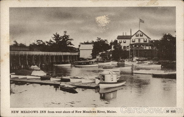 New Meadows inn from West Shore of River Brunswick Maine