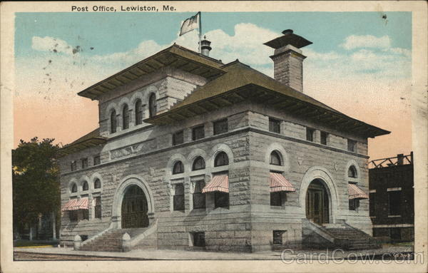 Post Office Lewiston Maine
