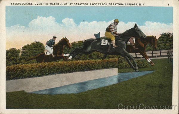 Steeplechase, Over the Water Jump, Saratoga Race Track