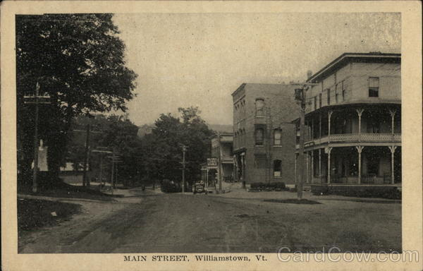 Main Street Williamstown Vermont