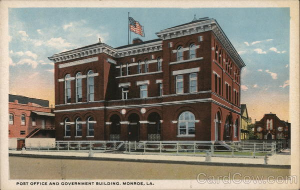 Post Office and Government Building Monroe Louisiana