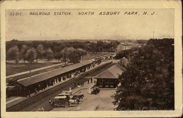 Railroad Station North Asbury Park New Jersey