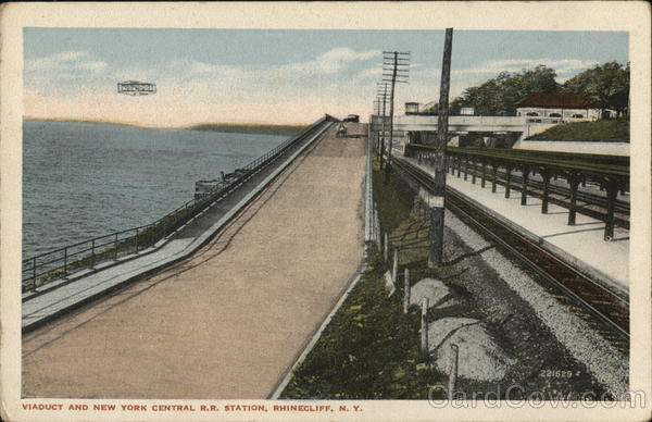 Viaduct and New York Central R.R. Station Rhinecliff