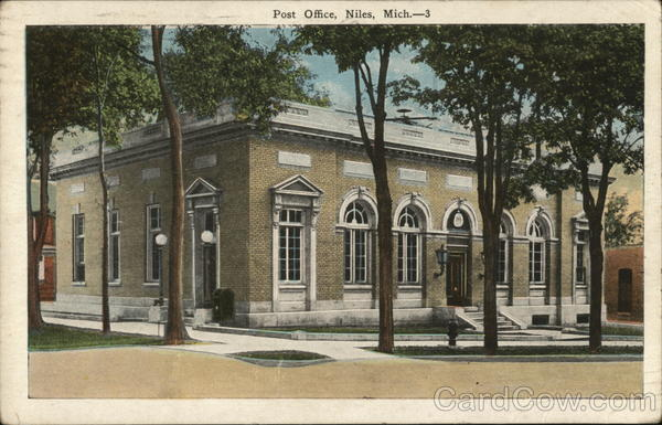 Post Office Niles Michigan