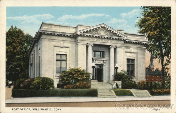 Post Office Willimantic Connecticut