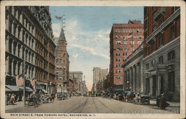 Main Street E. From Powers Hotel Rochester New York