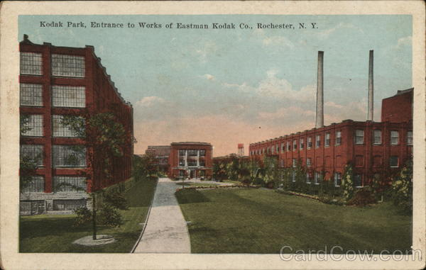 Kodak Park, Entrance to Works of Eastman Kodak Co. Rochester New York