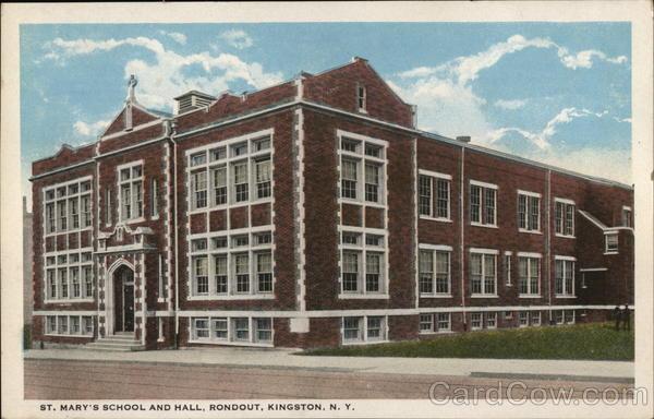 St. Mary's School and Hall, Rondout Kingston New York