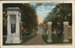 Entrance to Union College Postcard