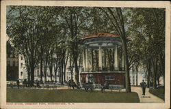 Band Stand, Crescent Park Postcard
