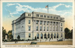 The Scioto County Court House Postcard