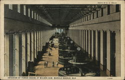 Interior of Power House at Wilson Dam