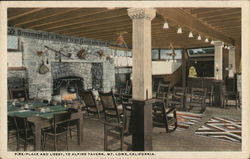 Fire-Place and Lobby, Ye Alpine Tavern