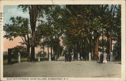 Blue Gate Entrance, Union College Postcard