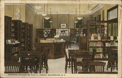 Interior, Saugerties Public Library Postcard