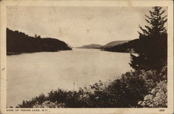 View Up Indian Lake Postcard