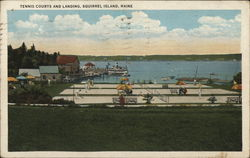 Tennis Courts and Landing Postcard